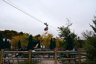 Ride Entertainment Group - The Tundra Air Zipline at the Toronto Zoo in Toronto, Canada.