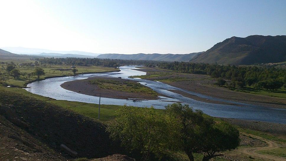 Tuul River in the Gorkhi-Terelj National Park