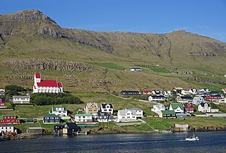 Tvøroyri Town in Faroe Islands, Kingdom of Denmark