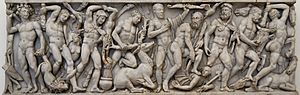Ancient Roman sarcophagi - 3rd-century sarcophagus depicting the Labours of Hercules, a popular subject for sarcophagi