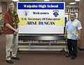 U.S. Department of Education Secretary Arne Duncan at Waipahu High School, Waipahu, Hawaii.jpg