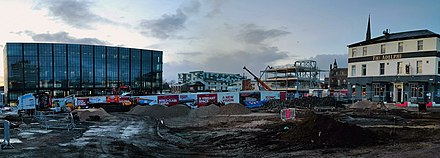 Construction of UCLan's new student centre and public square UCLan Gateway 20200212.jpg
