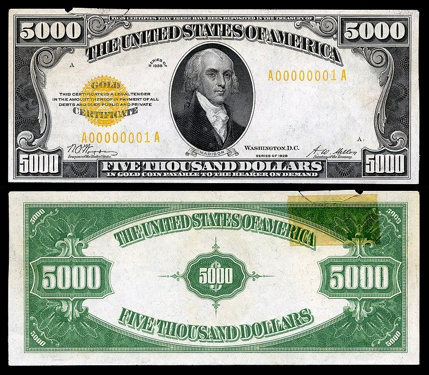 File:US-$5000-GC-1928-Fr-2410.jpg - Wikipedia