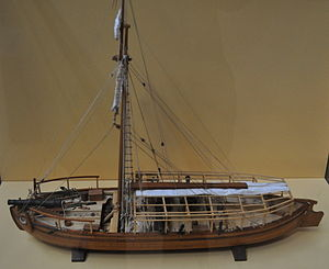 Gundalow - Image: USS Philadelphia Model
