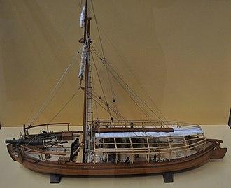 Gundalow - Image: USS Philadelphia Model