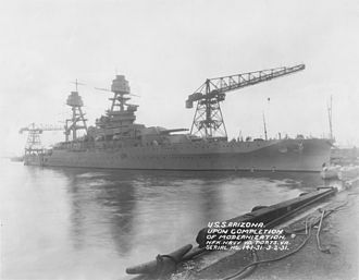 Norfolk Naval Shipyard - Image: USS Arizona after 1931 modernization NARA 19 LC 19B 2