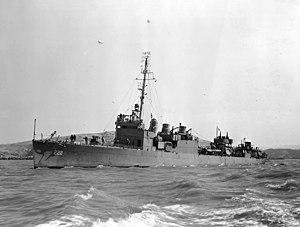 USS Bulmer (DD-222) - USS Bulmer (DD-222) underway in August 1943
