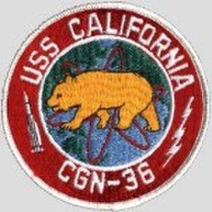 USS California (CGN-36) - Image: USS California CGN 36 Badge 2