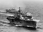USS Iwo Jima (LPH-2), USS Thomaston (LSD-28) and USS Vancouver (LPD-2) off Vietnam on 4 January 1967.jpg