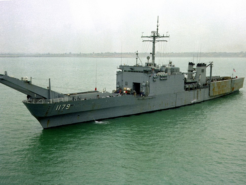 USS Newport (LST-1179) at Rota 1982