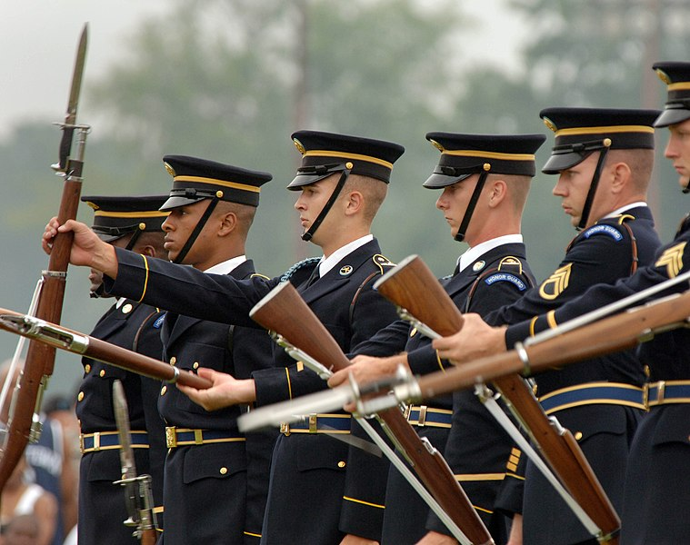 File:US 3rd Infantry regiment drill team.jpg