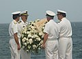 US Navy 020911-N-6747H-001 USS Washington - throwing a wreath into the sea.jpg