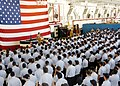 US Navy 050818-N-1550W-005 Chief of Naval Operations Adm. Mike Mullen speaks to Sailors during an all hands call for E-6 and below Sailors of Naval Station Mayport.jpg