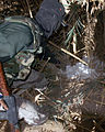 US Navy 071117-M-2550C-008 Iraqi police find a bag of homemade explosives hidden in a water reservoir during Operation Fawat Al Asad, near Lake Thar Thar in Iraq.jpg