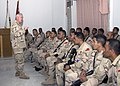 US Navy 071122-N-8623G-079 Adm. Timothy J. Keating, commander of U.S. Pacific Command, speaks to 55 Royal Marines assigned to the Tongan Defense Services in Iraq.jpg