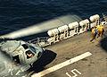 US Navy 080209-N-7643B-048 Flight deck crewmen aboard the amphibious assault ship USS Tarawa (LHA 1) guide an MH-60S Seahawk assigned to the.jpg