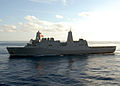 US Navy 080906-N-3392P-290 The amphibious transport dock ship USS San Antonio (LPD 17) transits the Atlantic Ocean.jpg