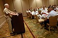 US Navy 080922-N-9818V-263 Adm. Robert F. Willard addresses the participants of the second Global Maritime Senior Enlisted Sailor Symposium.jpg