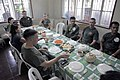 US Navy 090418-A-0759M-088 Armed Forces of the Philippines and U.S. Forces dine after participating in a community service project at St. Clare Patronage.jpg
