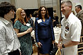 US Navy 090507-N-9818V-033 Master Chief Petty Officer of the Navy (MCPON) Rick West speaks with Christy Huriantnyk and her children, before the 2009 Military Spouse of the Year Awards Luncheon.jpg