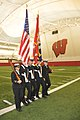 US Navy 091010-N-8848T-597 The Iowa State University Navy ROTC midshipmen color guard performs a facing movement during a competition in the McClain Indoor Practice Facility at the University of Wisconsin-Madison.jpg