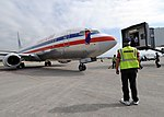 US Navy 100219-N-5961C-003 n American Airlines aircraft arrives at Toussaint Louverture International Airport in Port-au-Prince, Haiti.jpg