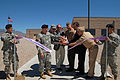 US Navy 100408-N-6185C-040 Officers cut the ribbon during a ceremony for the new Joint Armed Forces Reserve Center at Kirtland Air Force Base.jpg