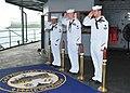 US Navy 111129-N-GE301-021 Logistics Specialist 2nd Class Todd Lowe, Ship's Serviceman 3rd Class Michael Colvin and Logistics Specialist 2nd Class.jpg