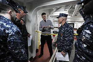 US Navy 120110-N-QQ884-116 Special Agent Jonathan Greenert instructs security personnel stationed aboard the nuclear-powered aircraft carrier USS G.jpg