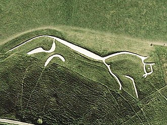 South East England - Uffington White Horse on the Berkshire Downs