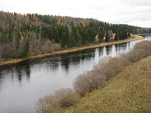 Ukhta River - Ukhta River between the city of Ukhta and Sosnogorsk