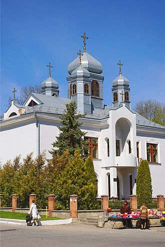 Eastern Christianity - The Church of the Cross of the Lord is located in Kremenets and is part of the Ukrainian Lutheran Church, which uses the Byzantine Rite.