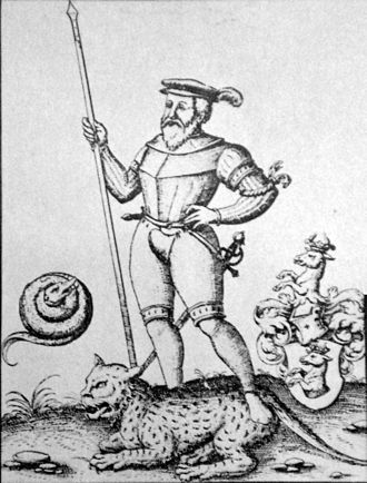 Ulrich Schmidl - Ulrich Schmidl, engraving from Levinus Hulsius, 1599