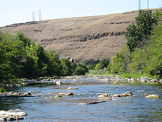 tributary of the Columbia River in Umatilla County, Oregon, United States