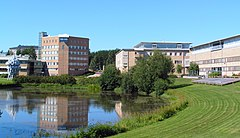 Umeå University Campus pond-2007-08-22.jpg
