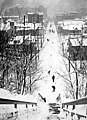 Union St, from 9th Ave, after a snowstorm, February 2, 1916 (SEATTLE 1039) (cropped).jpg