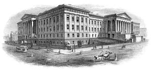 Old Patent Office Building - Vignette the Old US Patent Office Building from an 1880s patent certificate.