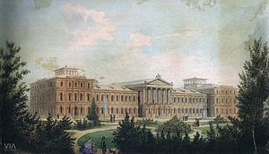 University of Bucharest - The original 1857 project of the University main building, by Alexandru Orăscu