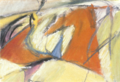 Untitled study, (dancing orange shapes) by Christopher Willard.png