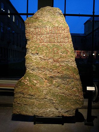 Möjbro Runestone - Image: Uppland rune stone U 877