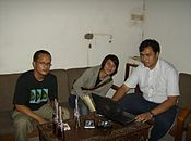 User Anggoro and Meursault2004 with friend (7 December 2006).JPG