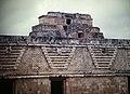 Uxmal Nunnery Quadrangle, East Building & Pyramid of Magician (9785394936).jpg