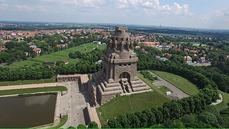 Monument to the Battle of the Nations - The monument from above