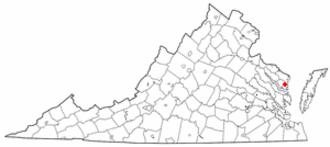 Kilmarnock, Virginia - Image: VA Map doton Kilmarnock