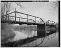 VIEW TO EAST SOUTHEAST - Sawyer Avenue Bridge, Spanning Black River, Medford, Taylor County, WI HAER WIS,60-HAM.V,1-4.tif