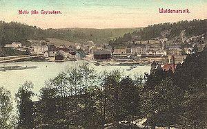 Valdemarsvik - Valdemarsvik postcard 1913