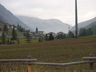 Valgrisenche - the town with the valley