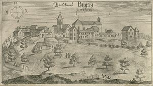 Pićan - Pićan in an engraving made by Valvasor from 1679.