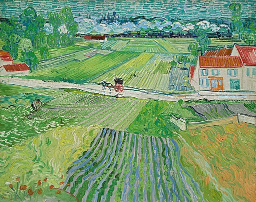 Van Gogh Landscape with carriage and train 1890