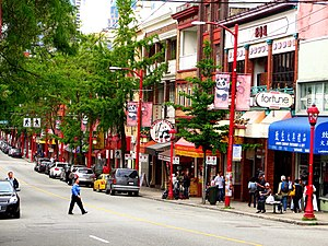 Chinatown, Vancouver - Street in Chinatown